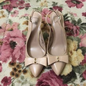 14th and Union Nude Slingback Kitten Heel w/ Bow